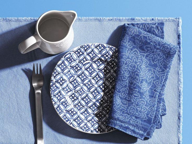 Tovagliolo in lino e cotone jacquard INDO by Society Limonta