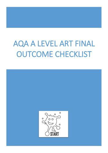 AQA and Edexcel A level Art Final Outcome Checklist
