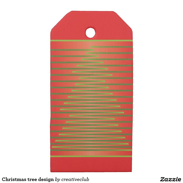 Christmas tree design wooden gift tags