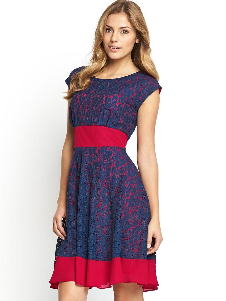 Very - Lace Tie Waist Dress, http://www.very.co.uk/definitions-lace-tie-waist-dress/1404047000.prd