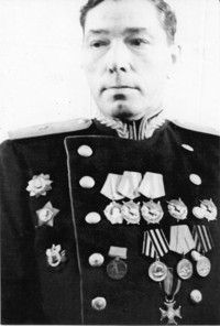 Major-General of Artillery Pyadusov Ivan Mironovich (1901-1964) a Soviet military leader, a participant of the Civil, the Soviet-Finnish (1940) and the Great Patriotic (WWII in Russia) wars. The Chief of Artillery: the 19th Rifle Corps (1941), the 23rd, and the 67th Armies (1942-1943), the 117th Rifle Corps (1944). Commanded of the 8th Artillery Corps (1944-1945, the East-Prussian and the East-Pomeranian offensive operations).
