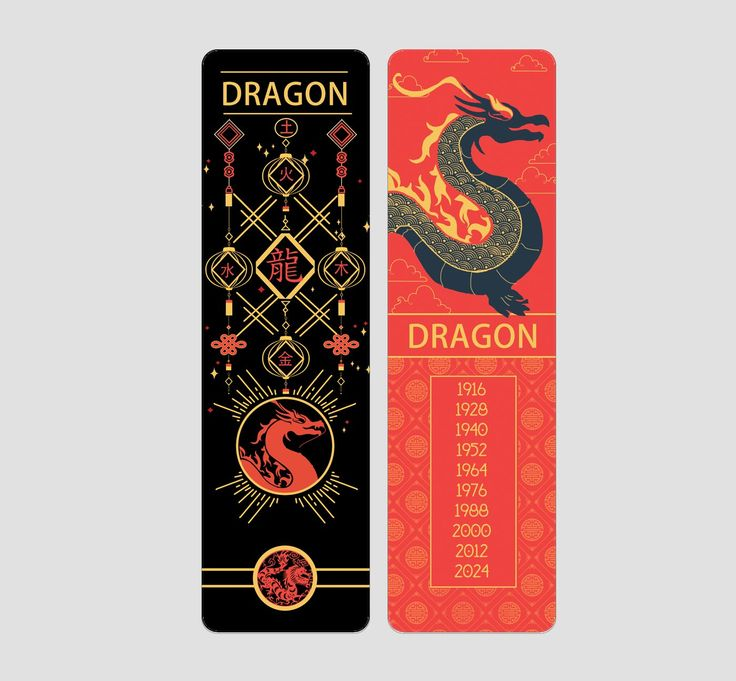 Dragon Chinese Zodiac Bookmark Chinese zodiac signs