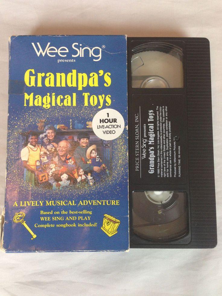 Wee Sing Vhs Video Grandpas Magical Toys 20 Kid Songs 1 -9561