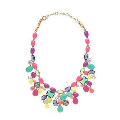 J.CrewColor mix statement necklace