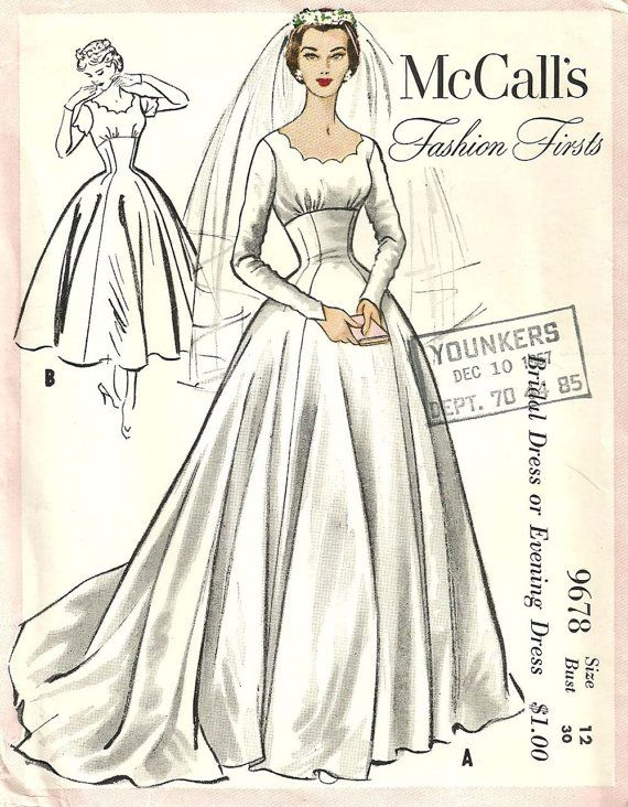 Wedding Dress Patterns Vintage Of 174 Best Sewing Patterns Wedding Dresses Images On