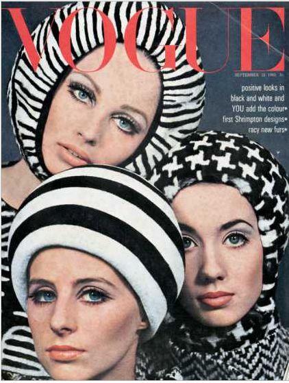 Vintage Vogue cover September 1965David Baileys, Spaces Age, Black White, British Vogue, Head Piece, Vogue Magazines, Fashion Magazines, Vintage Vogue Covers, Magazines Covers
