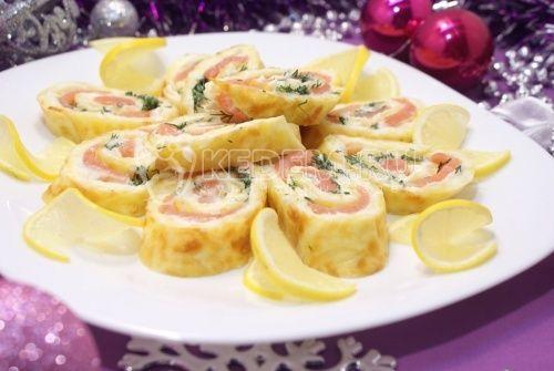 Сырный рулет Новогодняя сказка