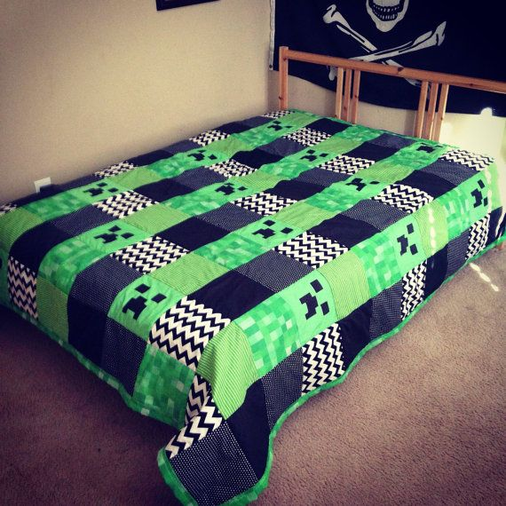 Minecraft Quilt by CraftyLovin on etsy