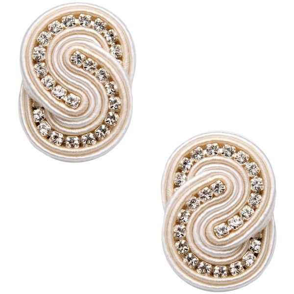 Dori Csengeri Earrings featuring polyvore, fashion, jewelry, earrings, ivory, ivory jewelry, ivory earrings and dori csengeri