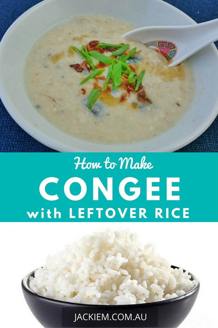 Congee, aka Chinese porridge, is an iconic breakfast dish popular in many parts of Asia. Next time you stay at a Malaysian or Thai hotel, keep an eye out for it at the breakfast buffet. This is a quick and simple way to make congee using leftover rice.