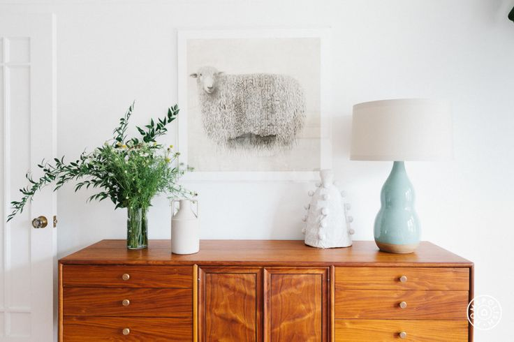 """Texture Rich and Color Happy in SF - """"I really love the pops of color in the design. They feel bright and lively without being in your face. I particularly love the pinks and purples in the rug in the bedroom mixed with the navy pillow and the sea foam lamp on the console."""" - @Homepolish San Francisco"""
