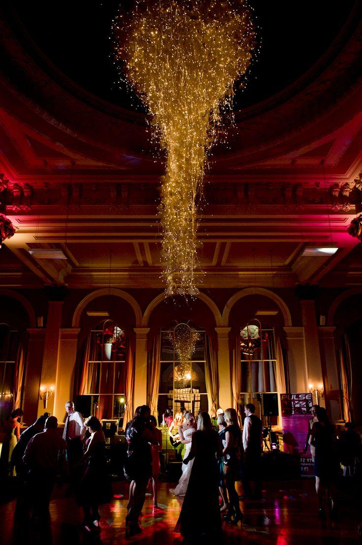 Stunning chandelier at the George Hotel, Edinburgh