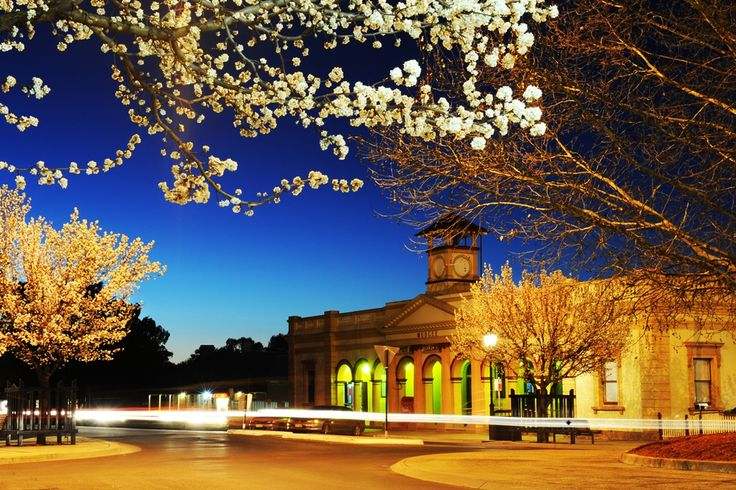 The Mudgee Post Office - looking beautiful during a spring twilight.