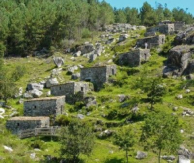 Mills in the Monte Aloia National Park,Galicia, Spain