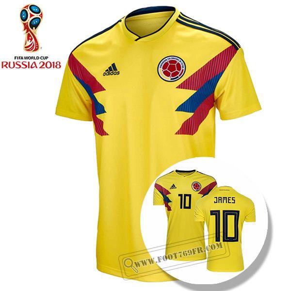 Meilleur Maillot Foot Colombie Homme (James 10) 2018
