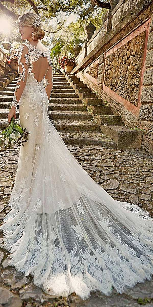 Neckline Long Sleeves Wedding Dresses 4