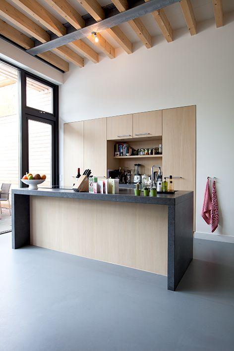 Kitchen extension/ Keuken aanbouw in ecologische houtskeletbouw