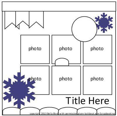 Bella Blvd. Free Scrapbook Page Sketch and Page Idea Yosemite Snow