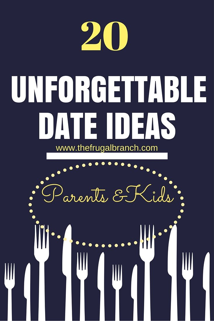 20 Unforgettable date ideas to have with your children. Individual time with your kids will create forever memories. I promise your kids will LOVE it and so will you!