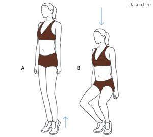 esercizi per rassodare interno coscia - squat plié