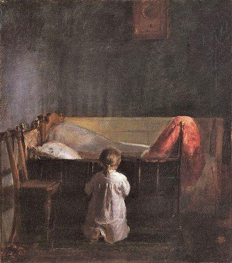 Anna Ancher - Aftenbøn (1888)