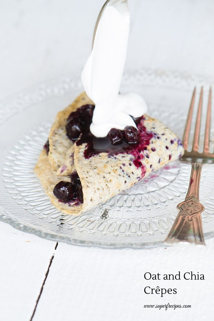 Chia and Oats Crepes