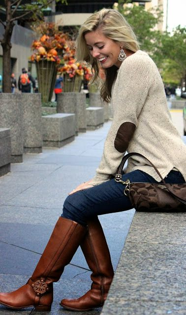 tall boot outfit for fall