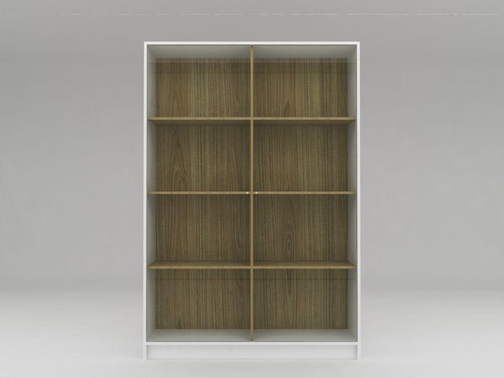 Minimalist modern furniture - Lemari Sepatu Kaca Minimalis - White Elegant Teak