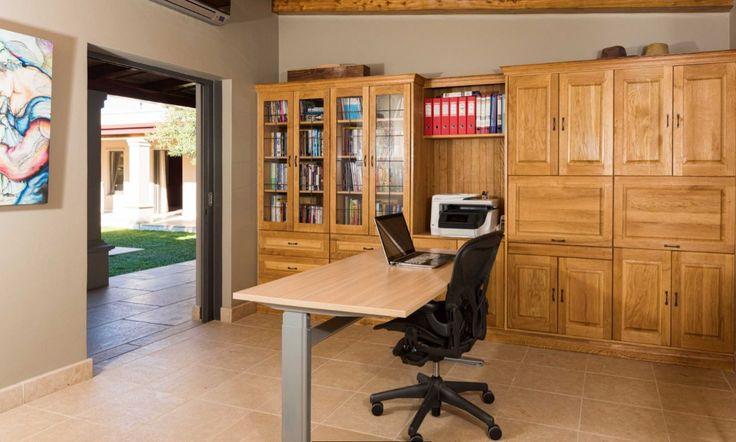 Oak fitted study.