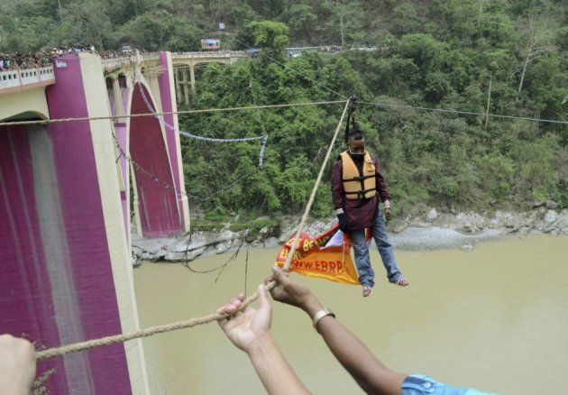 People Who Ended In Death While Attempting To Break World Records - - - ##  Sailendra Nath Roy ( Died on 28th April 2013, while attempting to break his own world record of the longest distance travelled on a zip wire using his hair.)