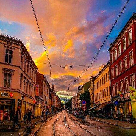 Late evening at Grünerløkka, Oslo
