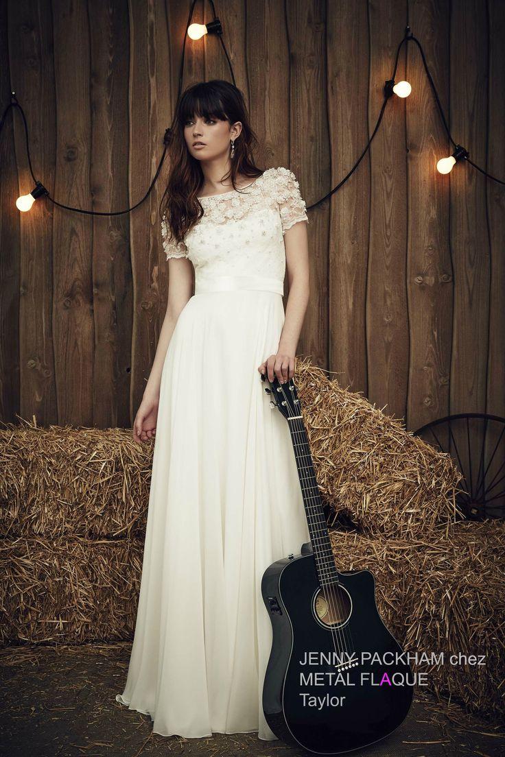 Taylor, robe de mariée Jenny Packham à Paris.  #robedemariée #robesdemariée #weddingdress #weddingdresses #JennyPackham