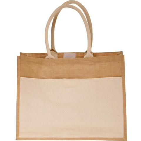 89e0b0700 Burlap Tote Bags Wholesale with Front Canvas Pocket -  B314_BagzDepot-1024x1024