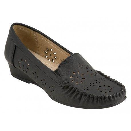 Γυναικείο μοκασίνι B-Soft-Μοντέλο 11-1 σε μαύρο χρώμα. Τιμή: 20 Ευρώ