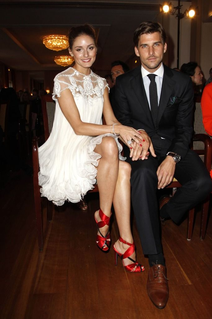 Johannes Huebl & Olivia Palermo in gorgeous dress & shoes