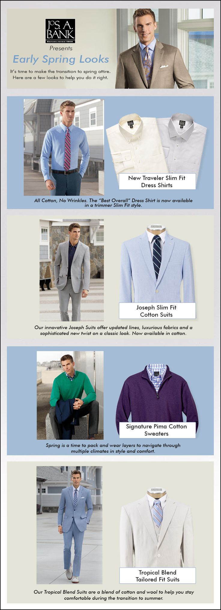 Some #spring menswear inspiration to help you get ready for the transition to warmer weather.