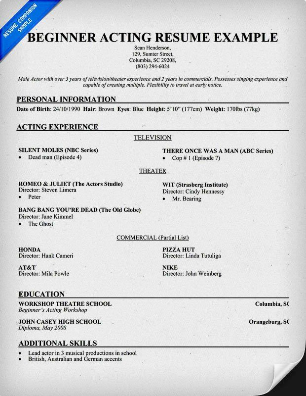 Child Acting Resume Template Fresh Acting Resume For Beginners Resume Template Acting Resume Template Acting Resume Acting Monologues