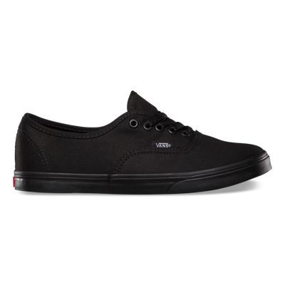 The Authentic Lo Pro, a simple low top, lace-up with a slim silhouette, has a canvas upper, metal eyelets, Vans flag label and low profile vulcanized micro waffle rubber outsole.