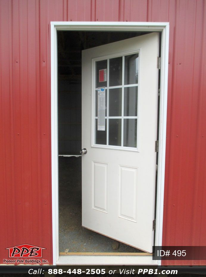 Man Door Mondays Pole Building Pole Buildings Garage Entry Door Door Installation