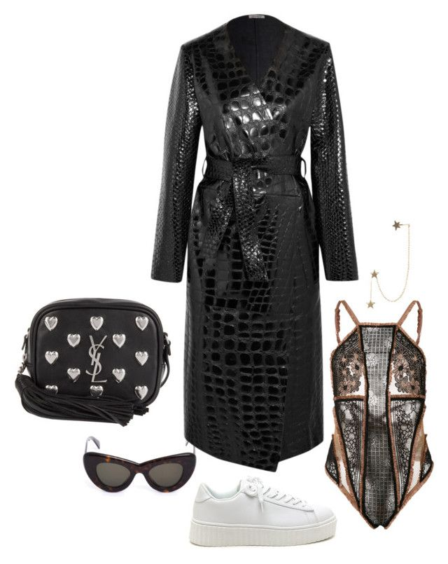 """Untitled #688"" by szudi on Polyvore featuring CÉLINE, For Love & Lemons, Attico, Yves Saint Laurent and Zimmermann"