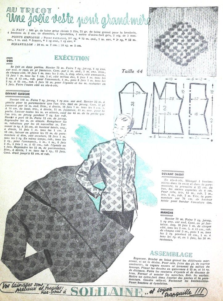 Gratuit 40 Patrons Couture Vintage1947 Free Sewing Patterns