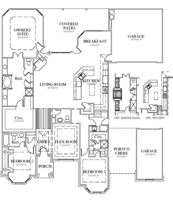 Delightful Design Porte Cochere House Plans Home Designs Idea House Floor Plans Floor Plans House Plans