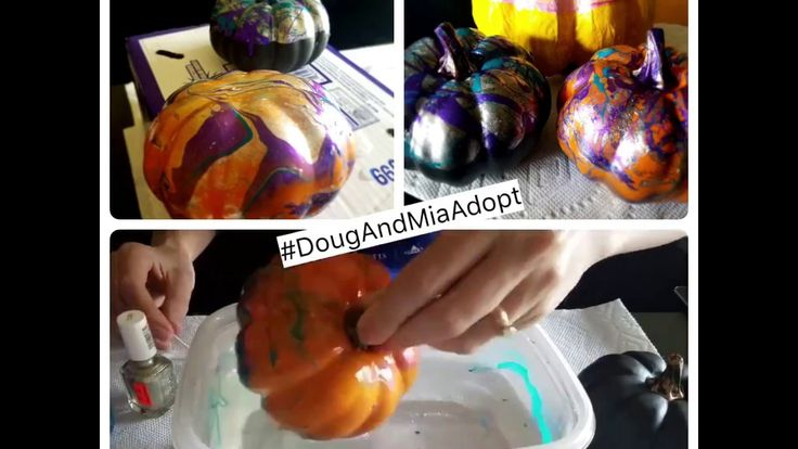 Boo-Yah! Marble Polish Pumpkins. They really are as easy to make as they look! Tip- Use plastic pumpkins. They last longer 😉 We picked ours up Target for $2. Get some cheap nail polish or use what you have at home. Work quickly b/c the polish will harden fast even in the water.  #diy #crafts #crafting #pumpkins #target #falldecor #tips #tuesdaytips #hyperlapse #video WWW.DOUGANDMIAADOPT.COM Call/Text: 516-366-0720 #dougandmiaadopt #hopefulparents #hopefuladoptiveparents #adoption…