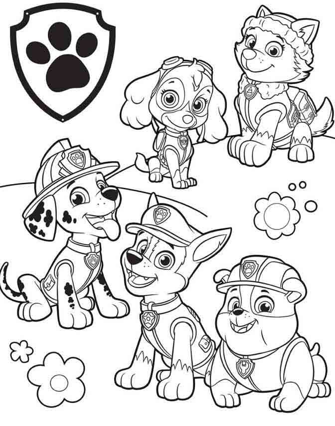 45 Coloring Pages Pretty Colors Paw Patrol Coloring Paw Patrol Coloring Pages Cartoon Coloring Pages