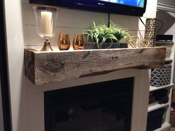 Uniquely Custom made Barn Wood Mantel shelf by USMCWoodWorks