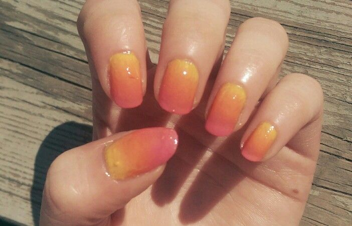 Sunset summer nails