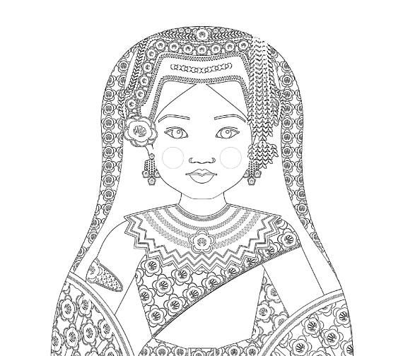 multi cultural coloring pages - photo#34