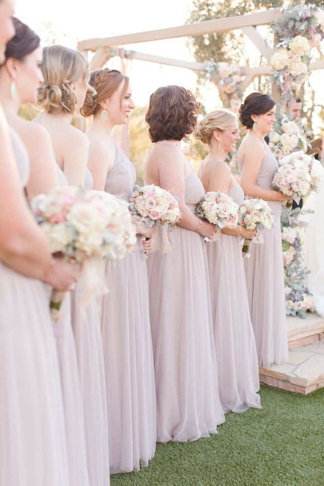 Beautiful Bridesmaids in a Desert Wedding