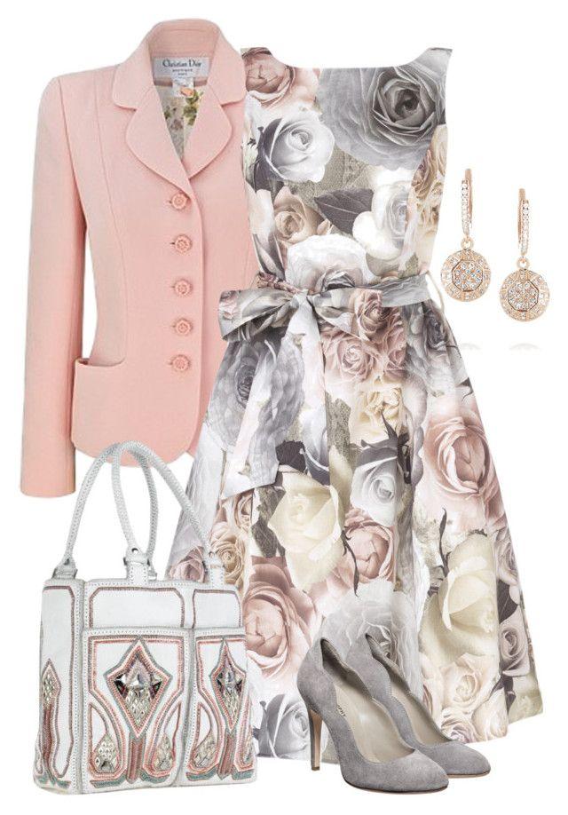 """Grey & Pink"" by yasminasdream ❤ liked on Polyvore featuring Ileana Makri, Christian Dior, BUBA and Philosophy di Alberta Ferretti"