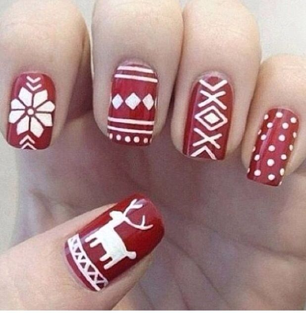 Fair Isle Nails!Holidaynails, Holiday Nails, Nailart, Nails Design, Christmas Nails Art, Winter Sweaters, Christmas Sweaters, Winter Nails, Fair Isle